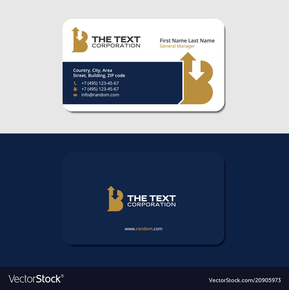 Premium business card template branding and brand vector image accmission Images