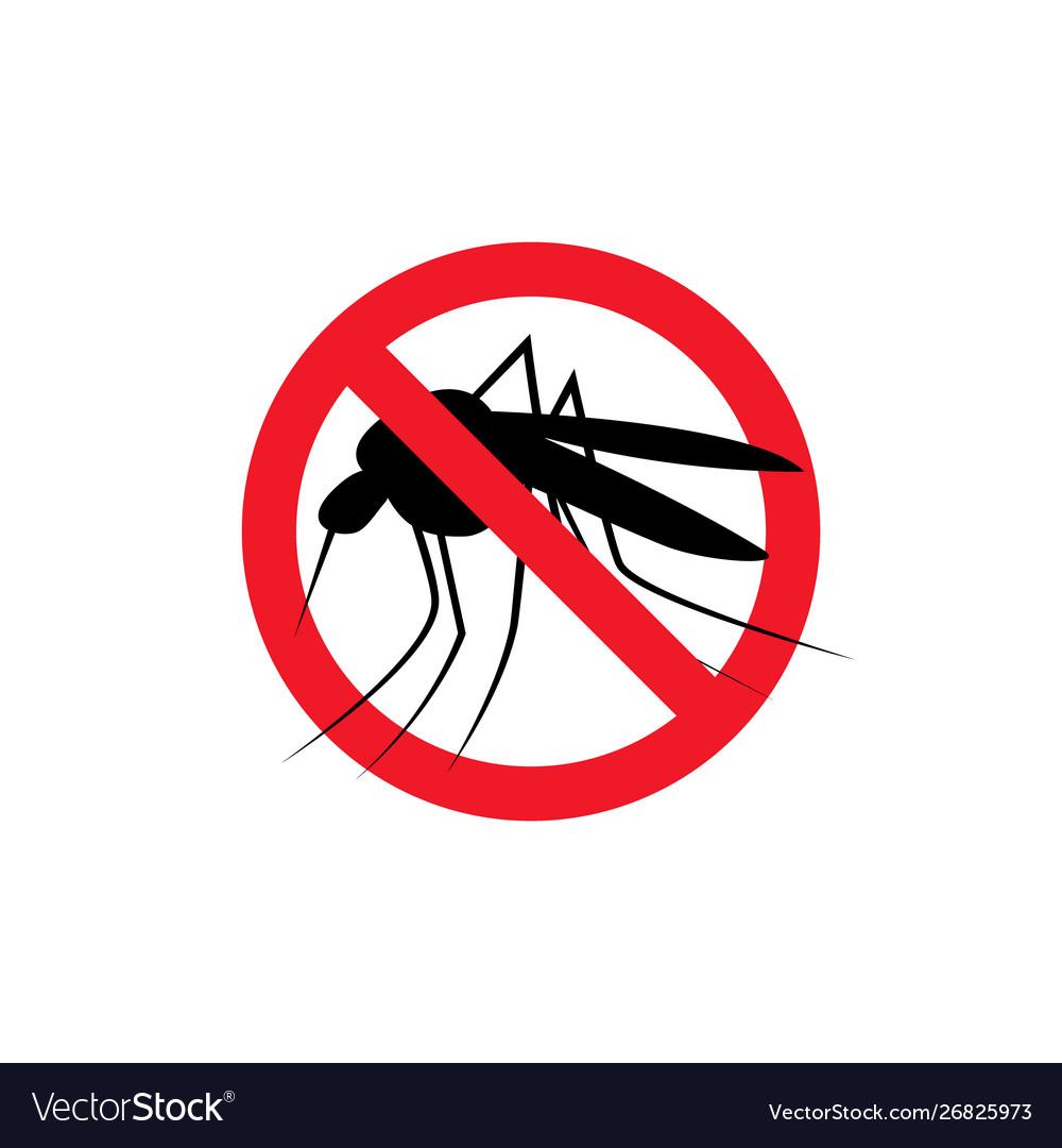Repellent mosquito stop sign icon malaria pest