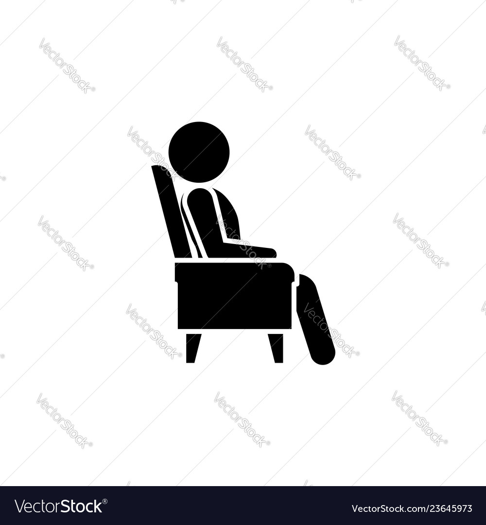 The man in the armchair icon a man resting
