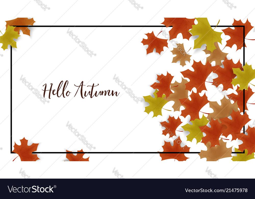 Autumn frame background decor with autumn maple