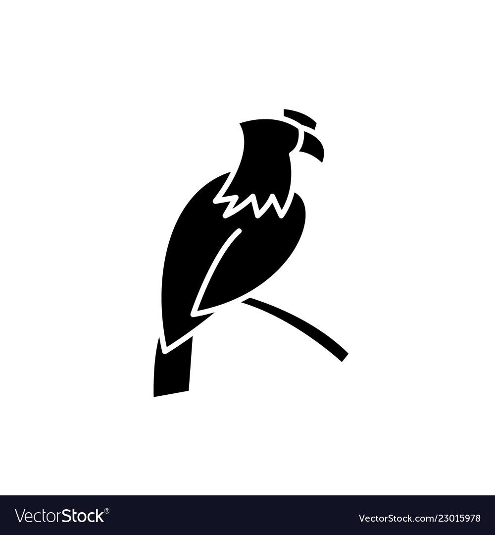 Eagle black icon sign on isolated