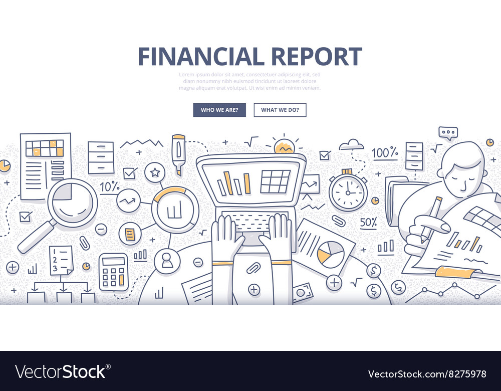 Financial Report Doodle Concept