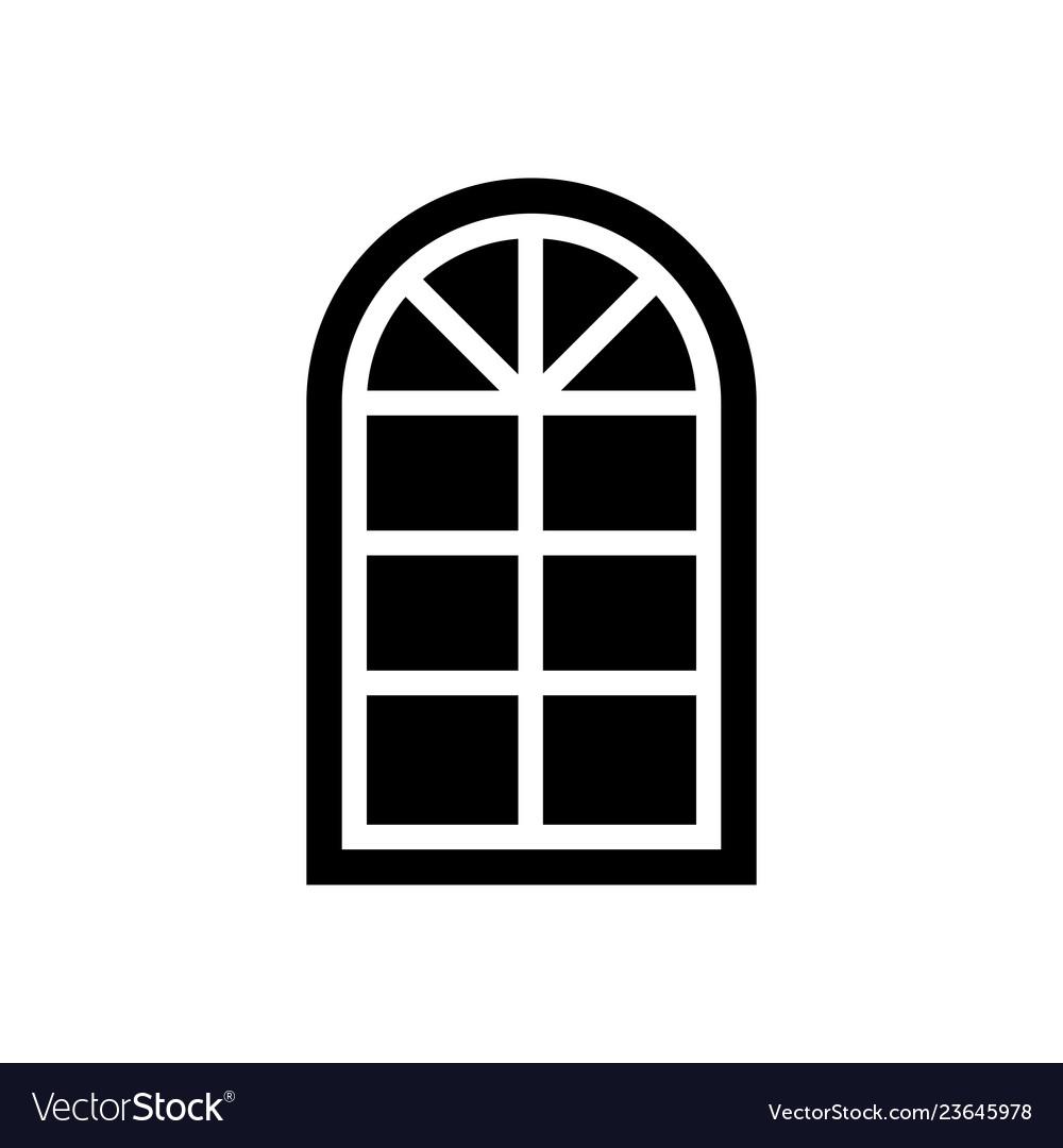 Semicircular window icon