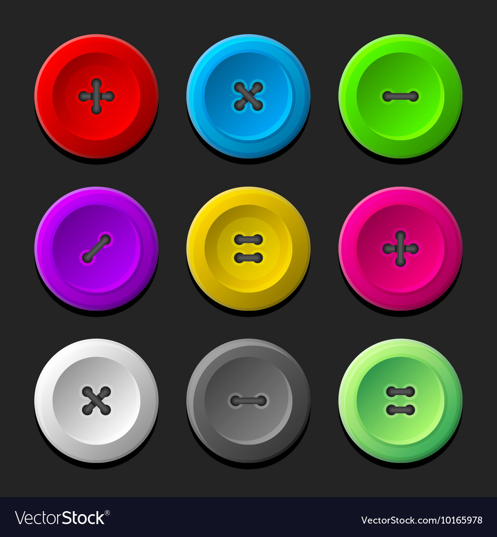 Sewing Buttons Set on Dark Background
