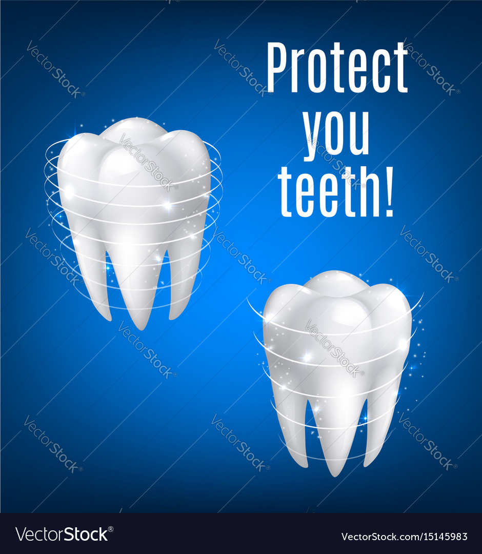 3d white teeth protection for dentistry