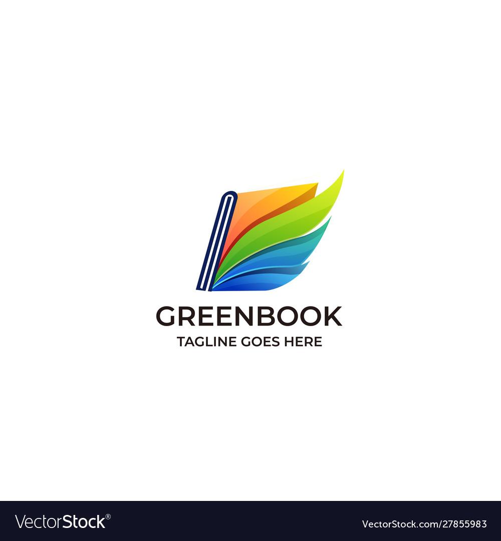Book green educational design template