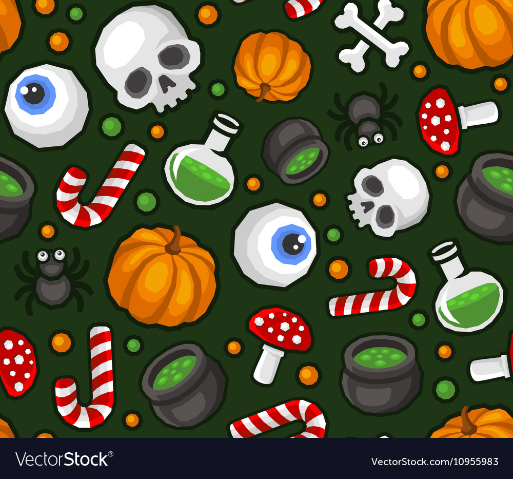 Halloween Seamless Pattern Background with Spider