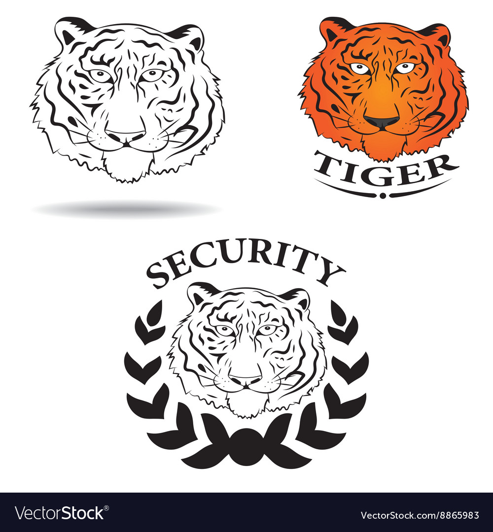 Logo with the image of a tiger vector image