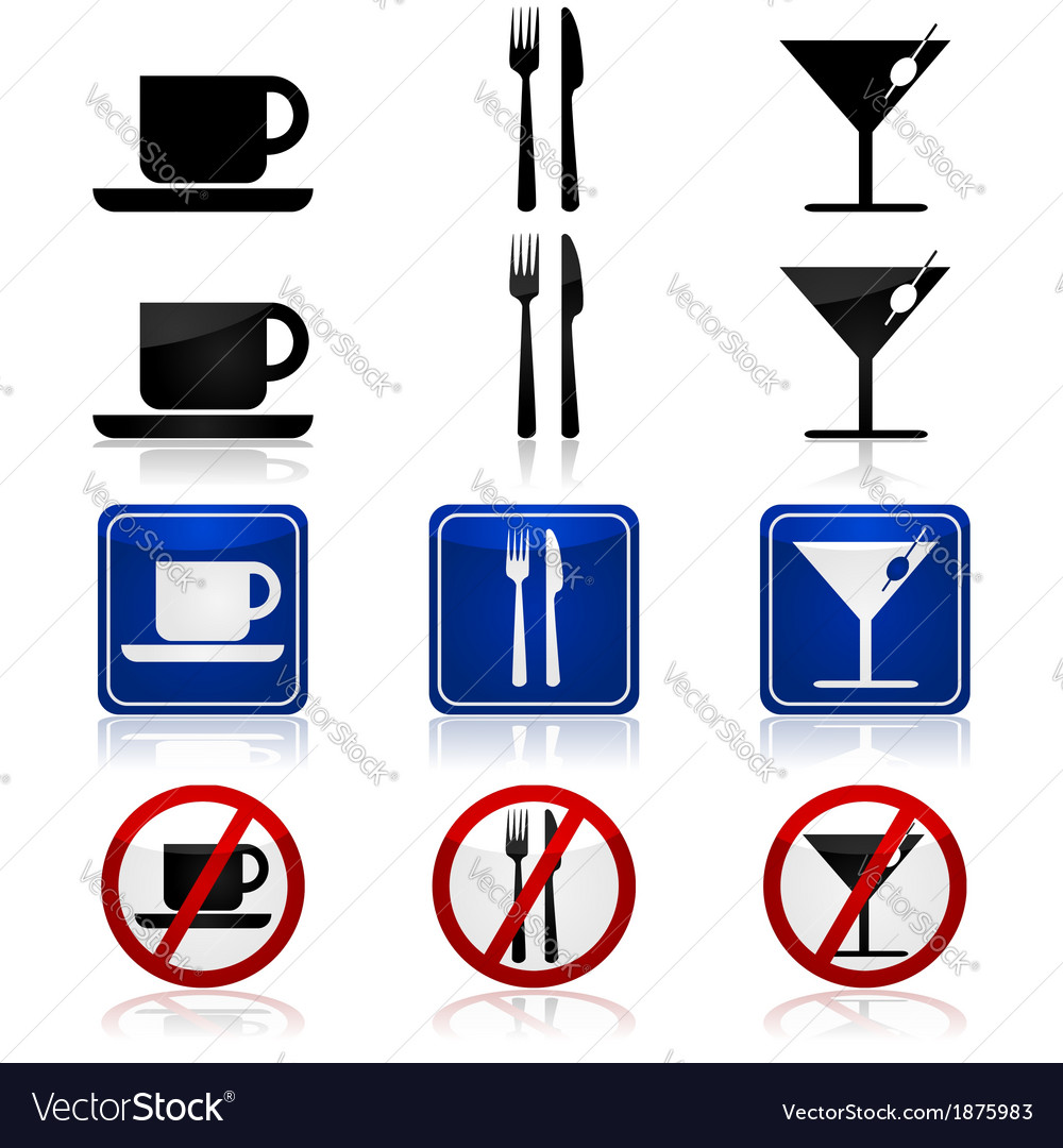 Restaurant and bar signs