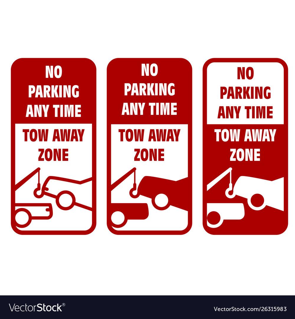 Vehicles tow away road sign - no car parking sign