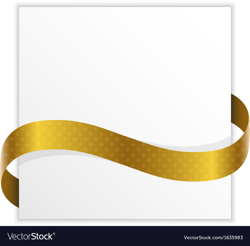 Winner note with golden ribbon