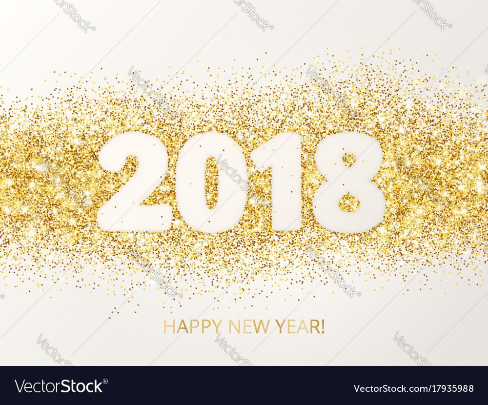 2018 glitter typography design happy new year