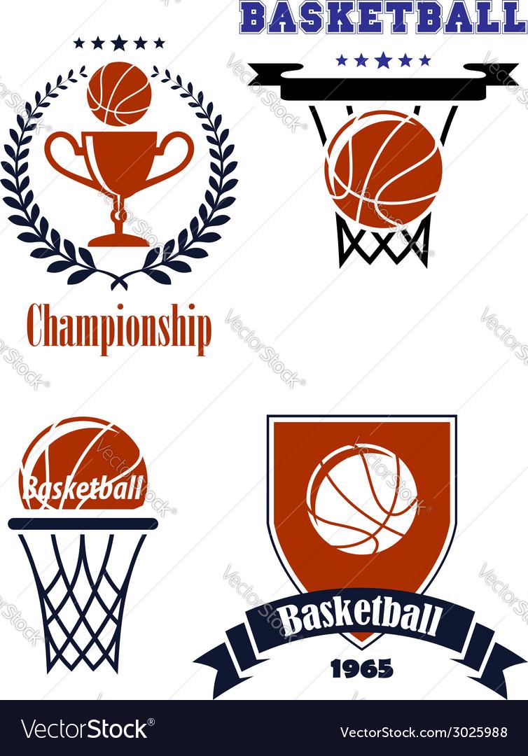 Basketball sporting symbols or logos