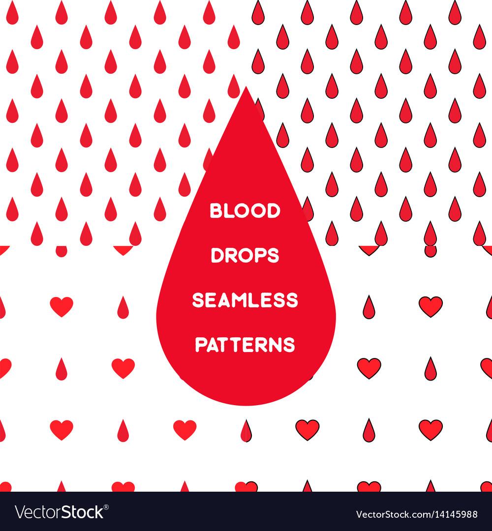 Blood seamless pattern