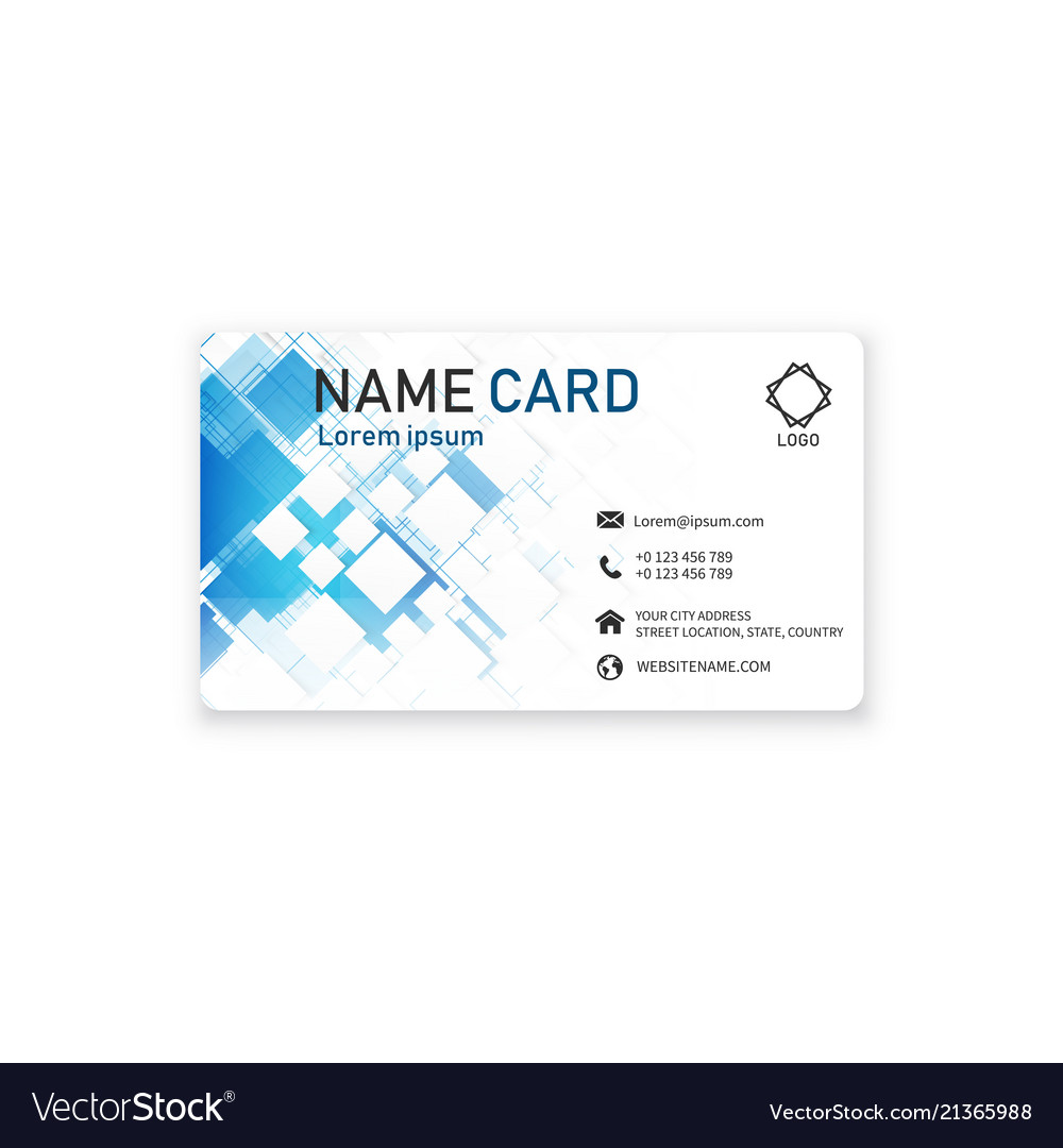 Blue business creative modern name card ima