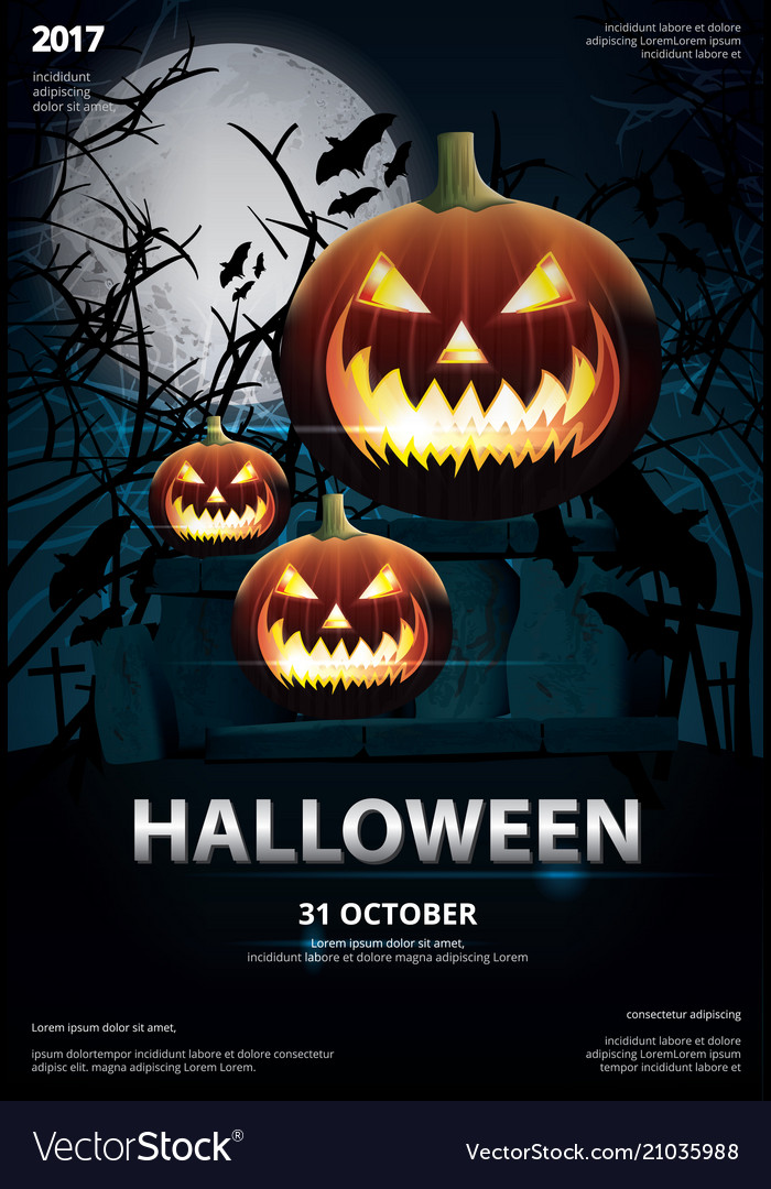 halloween poster template design royalty free vector image