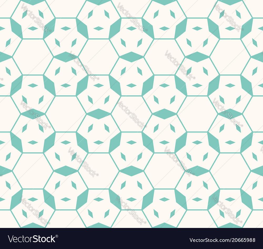Linear geometric seamless pattern hexagonal grid