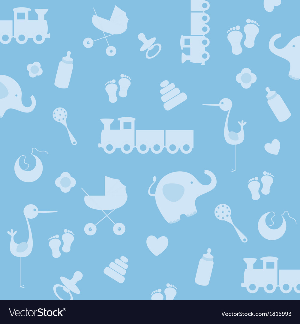 Background baby boy royalty free vector image vectorstock - Baby background ...