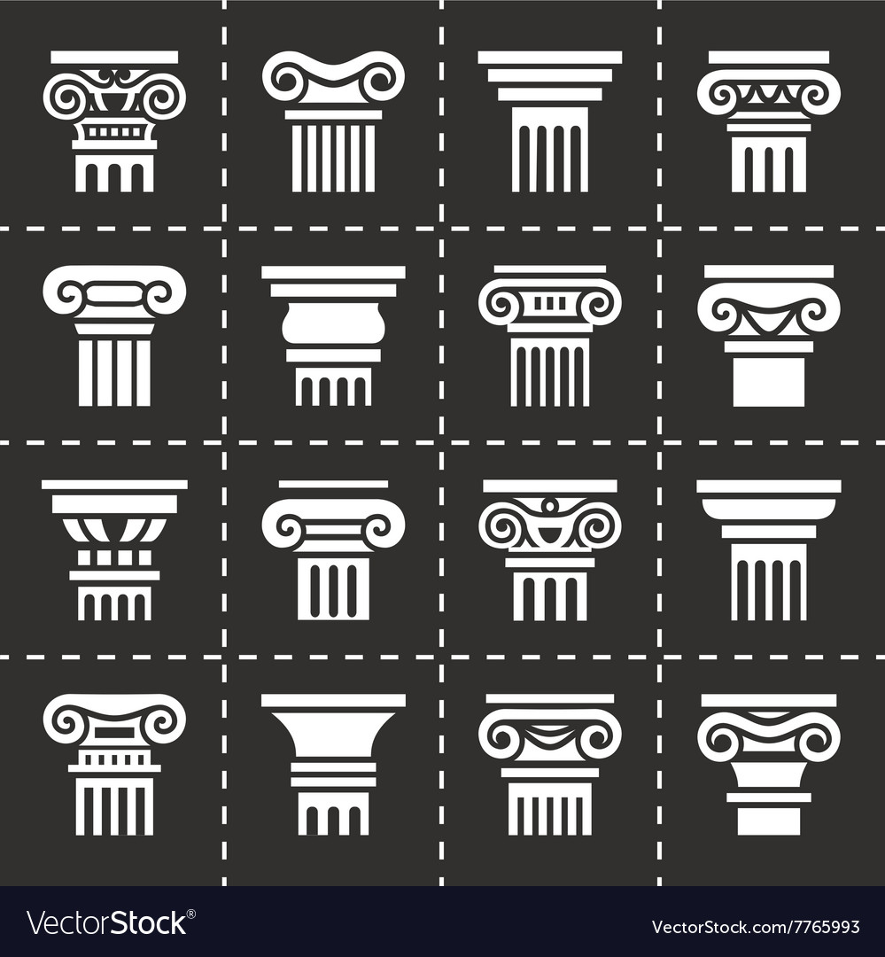 Column icon set