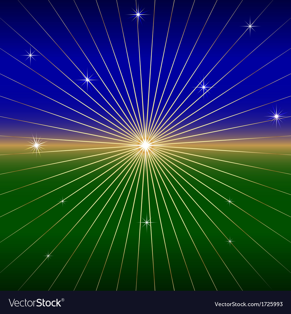 Dark Background with star and rays