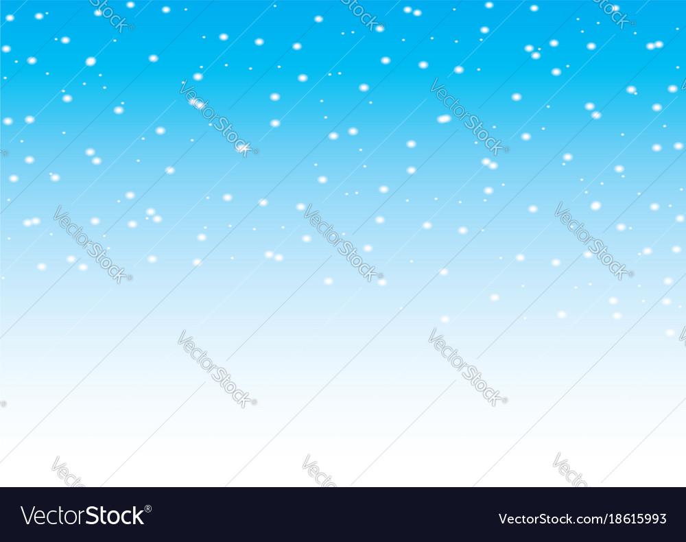 Falling snow seamless pattern