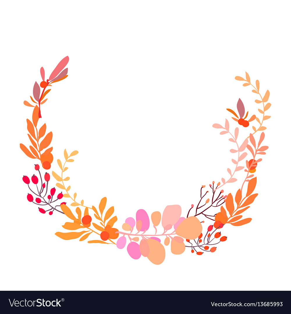 Foral flowers wreath