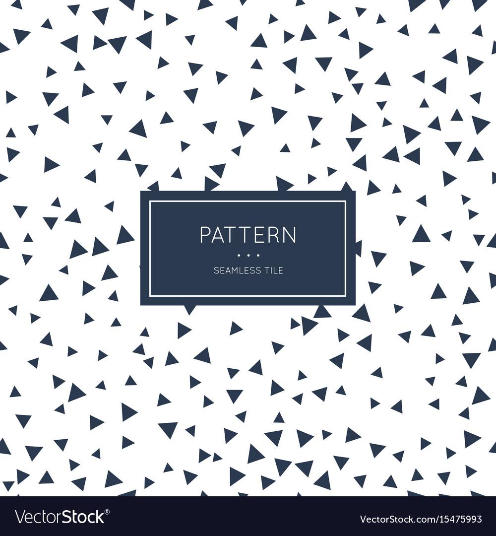 Geometric triangle pattern vector image