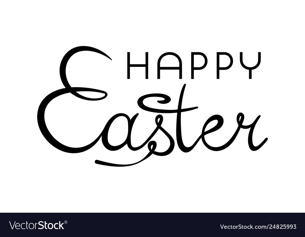 Happy easter background with stylish lettering