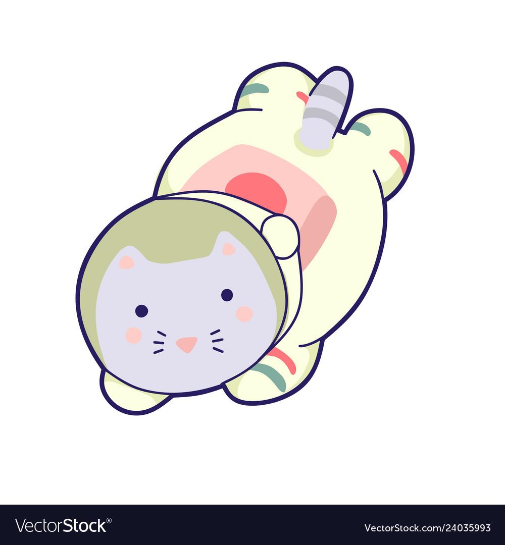 Kawaii cat astronaut helmet cute