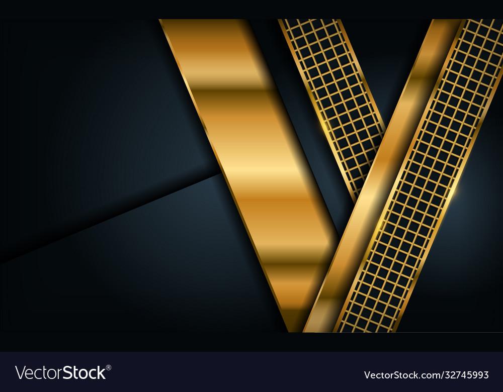 Luxury dark navy background with golden lines