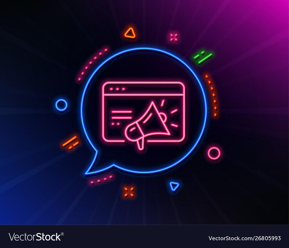 Seo marketing line icon web targeting sign