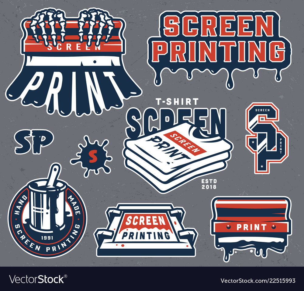 Vintage screen printing composition