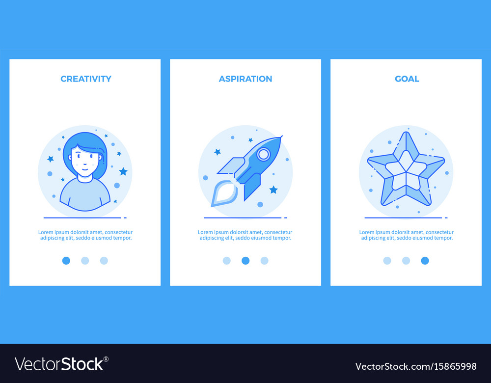 Creative woman desire for a dream goal outline vector image
