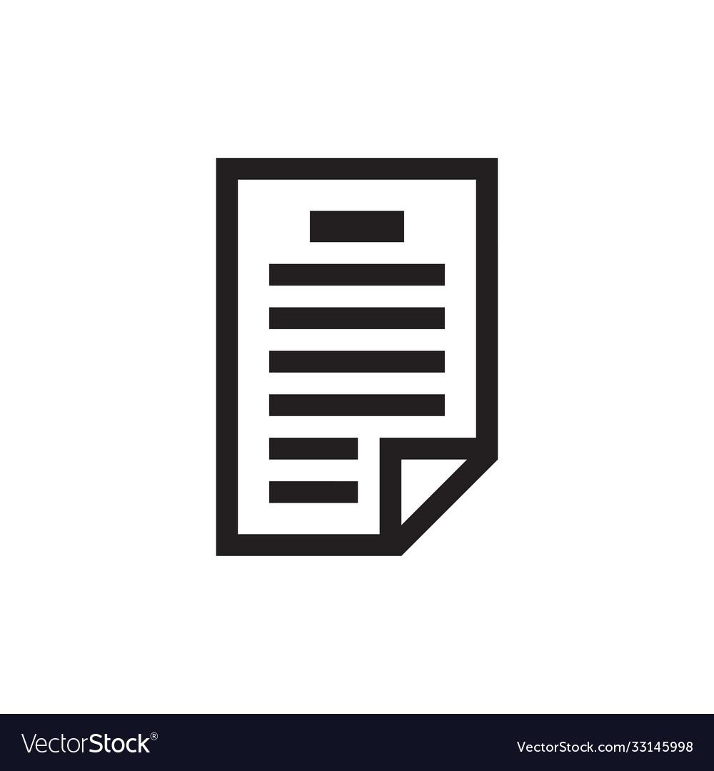 Document - black icon on white background