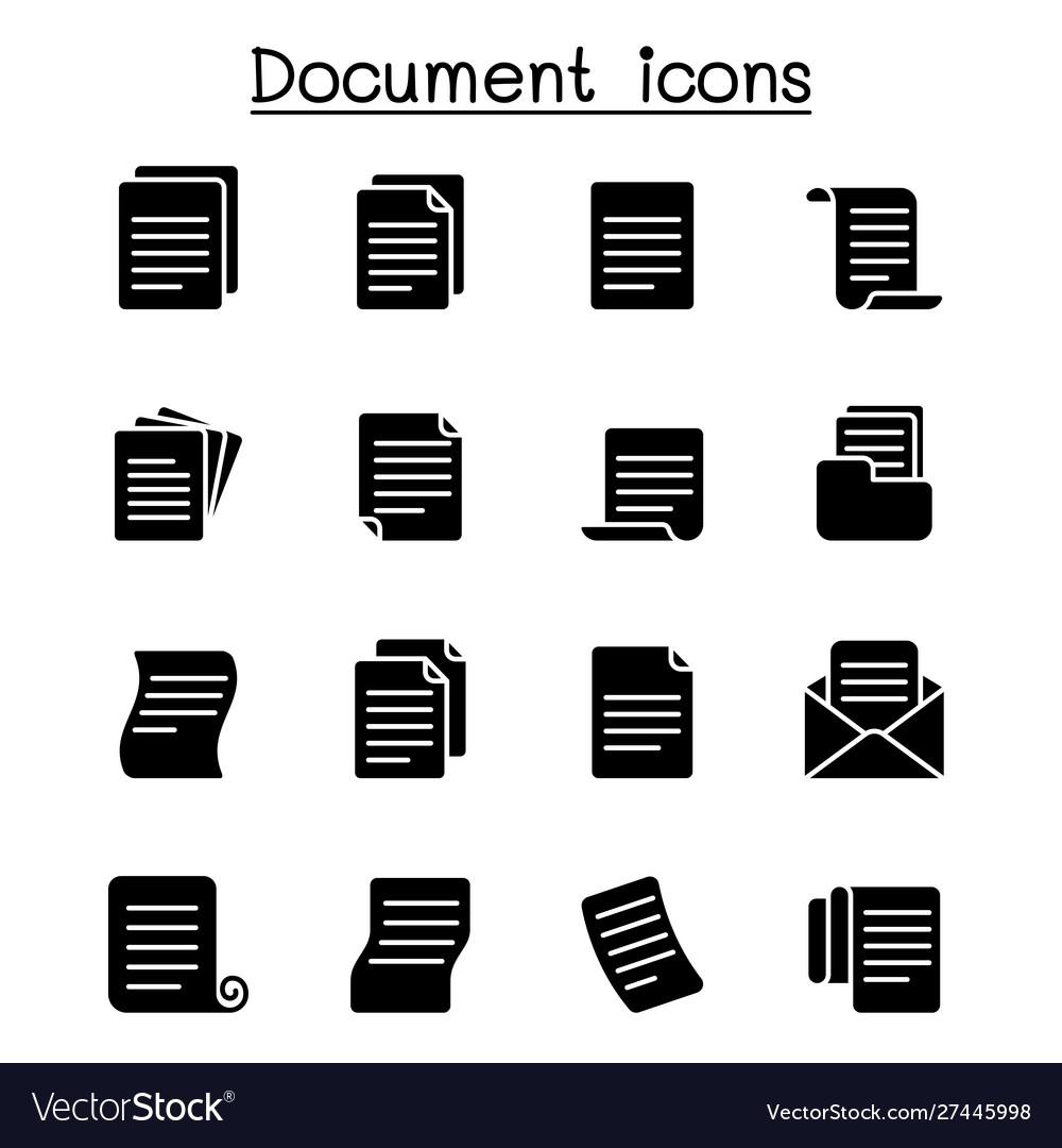 Document icon set graphic design