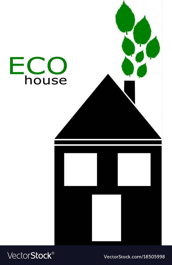 Eco house icon