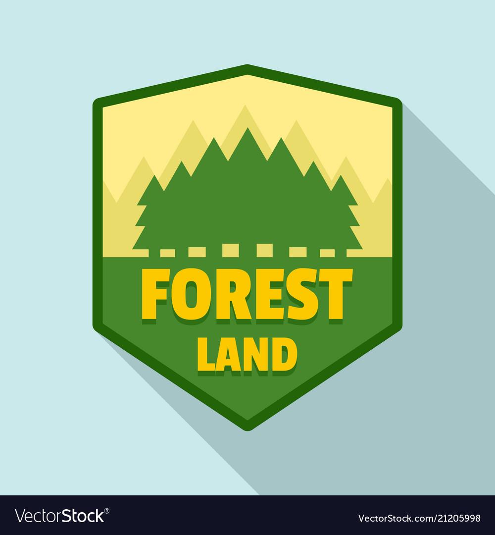 Forest land logo flat style