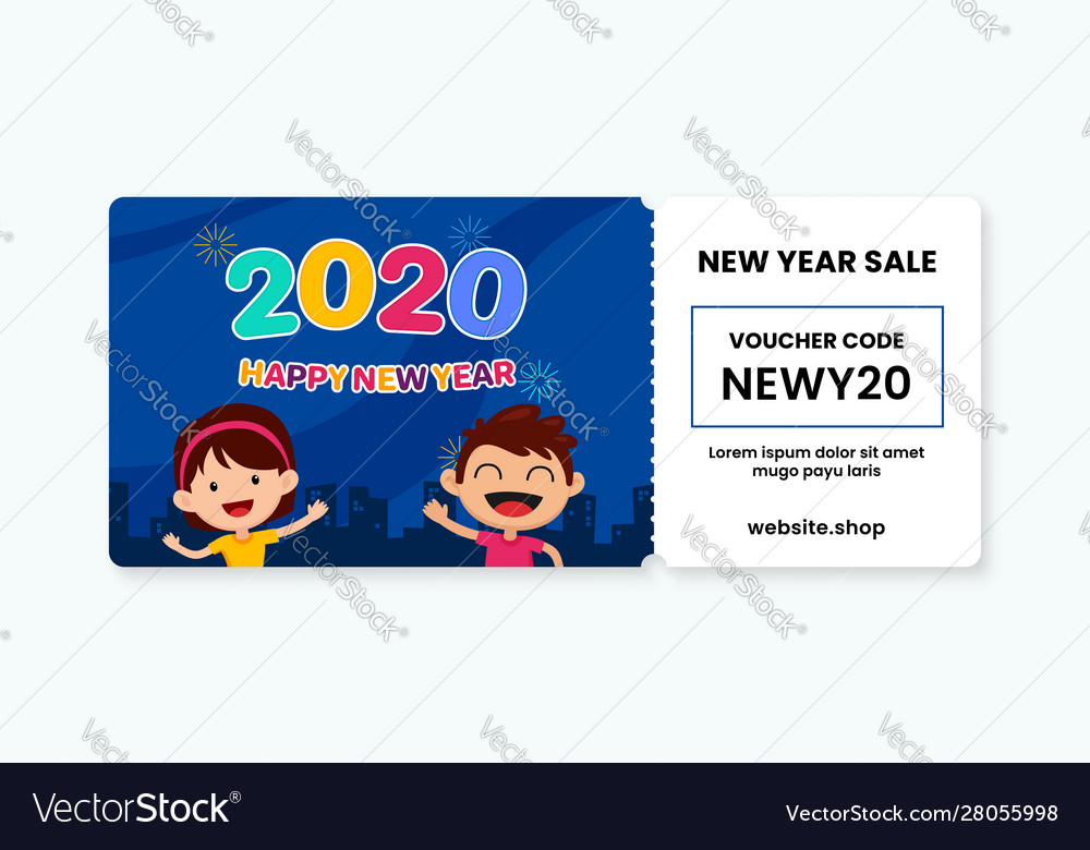 Happy New Year 2020 For Kids Voucher Gift