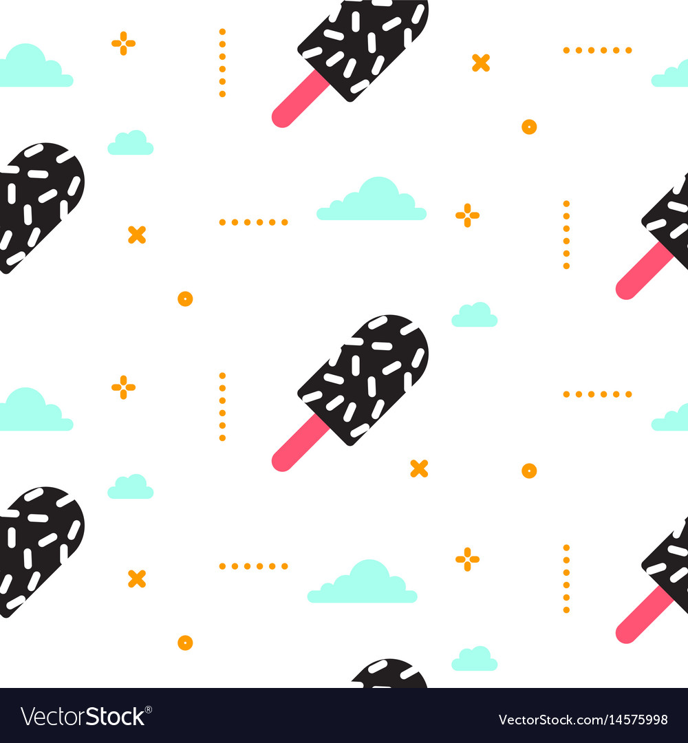 Ice cream seamless pattern 90s style
