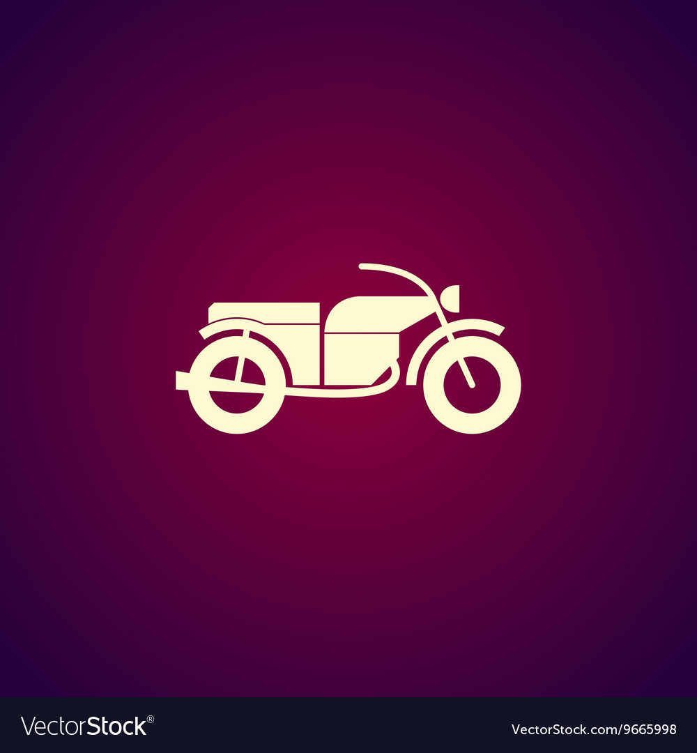 Motorcycle icon Flat design style