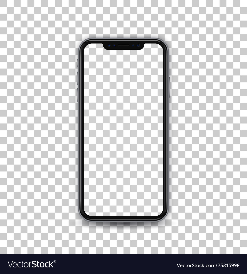 New black concept of mobile phone with camera and