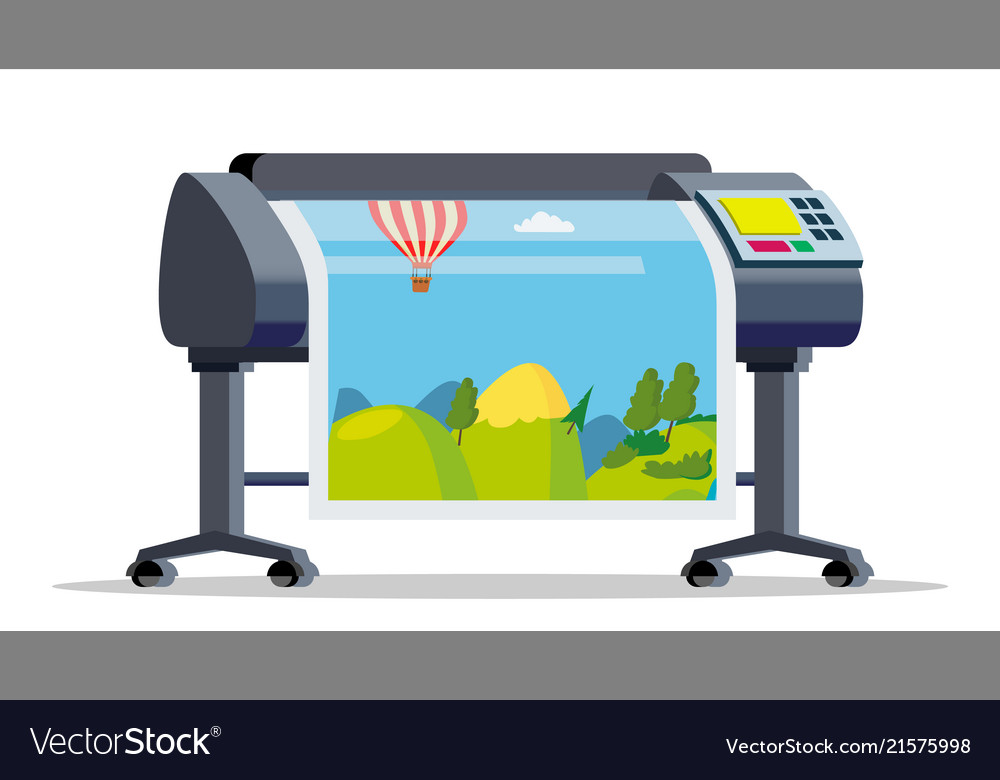 plotter printer large format royalty free vector image vectorstock
