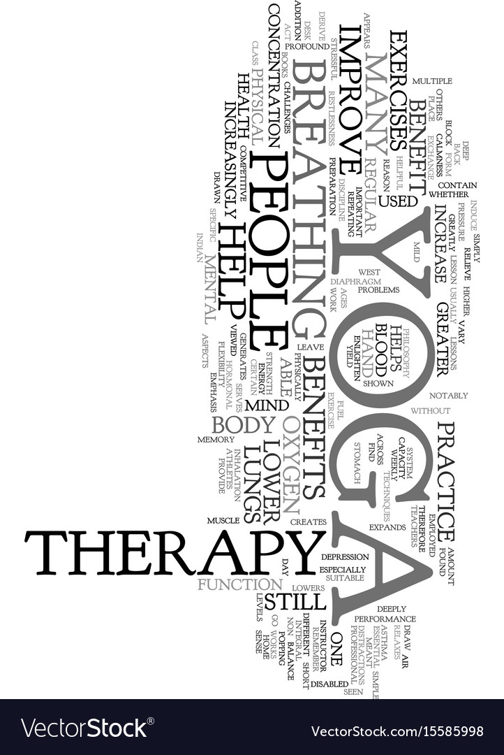 Yoga Therapy Text Word Cloud Concept Royalty Free Vector