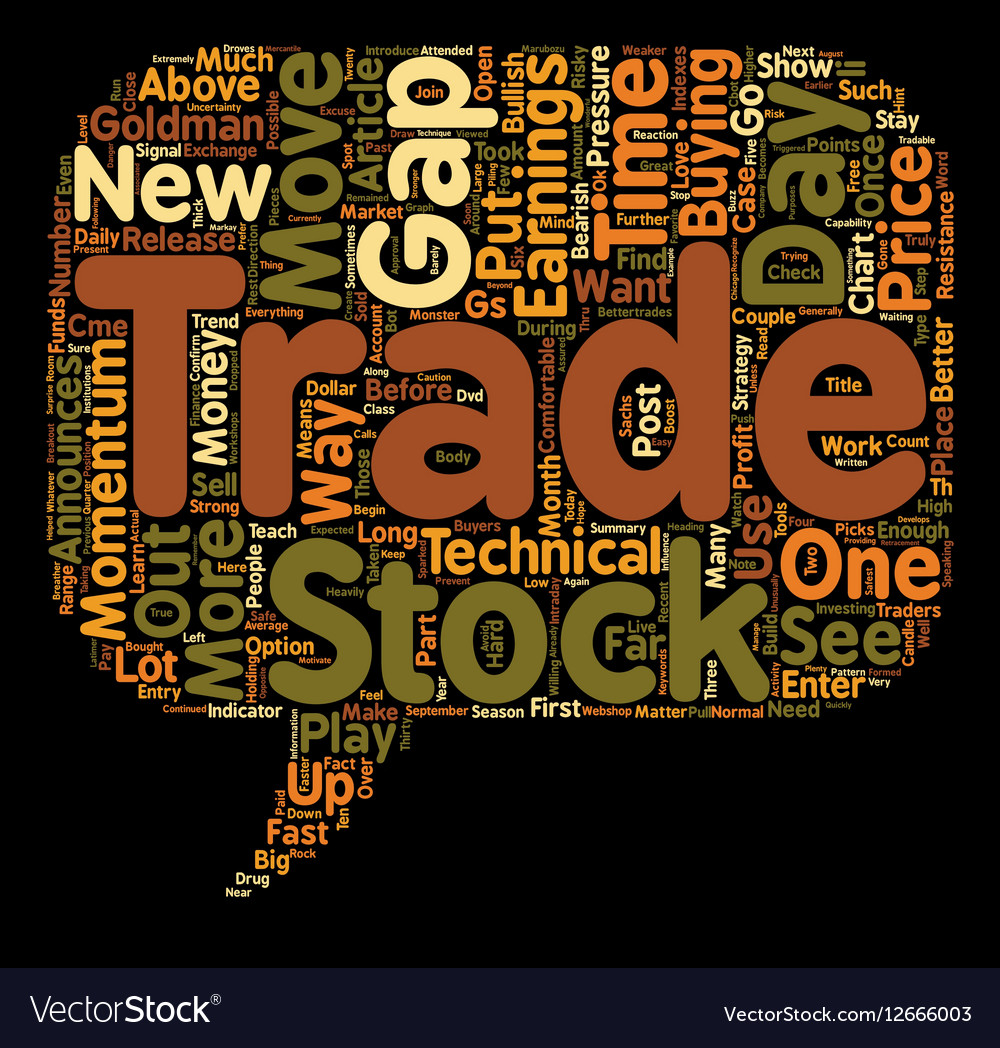Better Trades Momentum Part 1 text background vector image