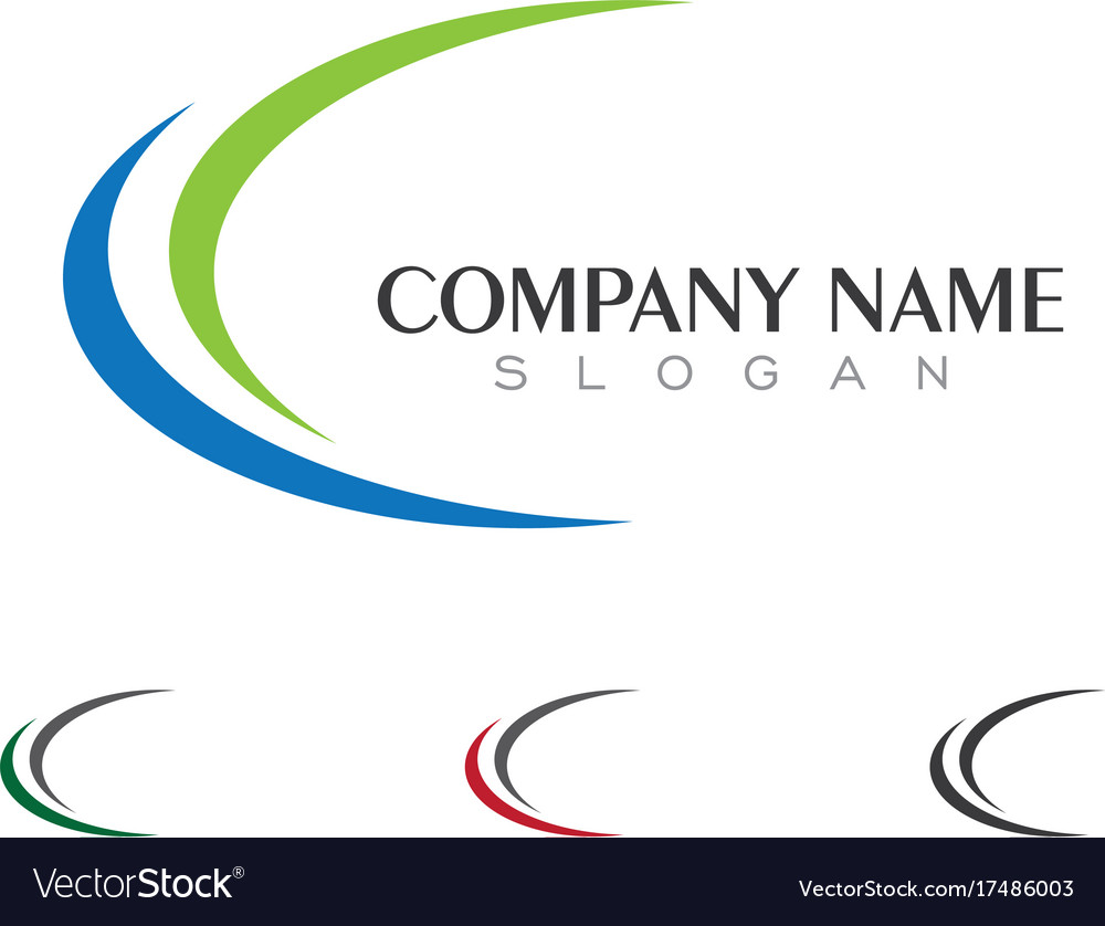 C letter logo business template