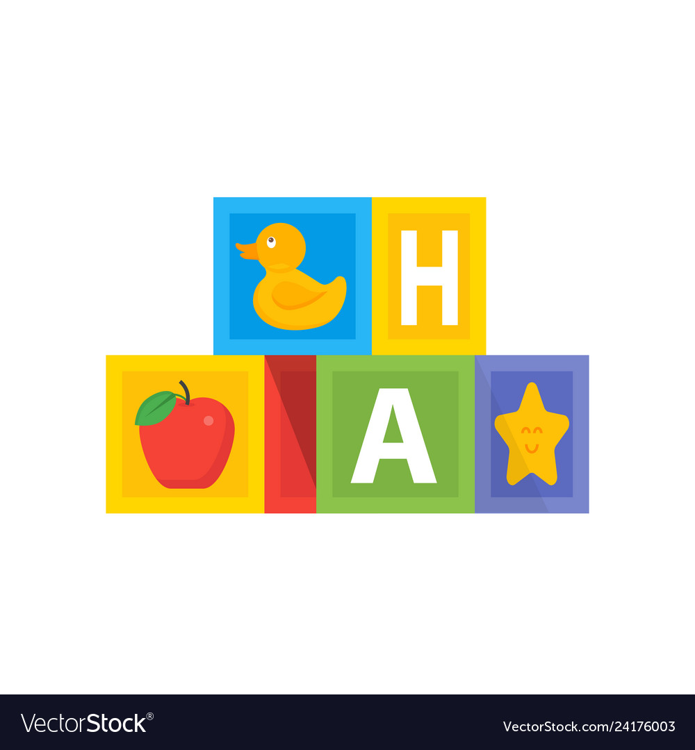 Colored bacube wit abc alphabet kids toys