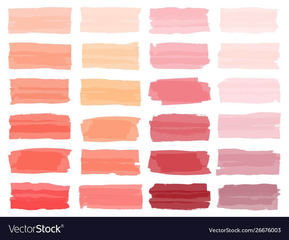 Colorful watercolor brush strokes rainbow colors