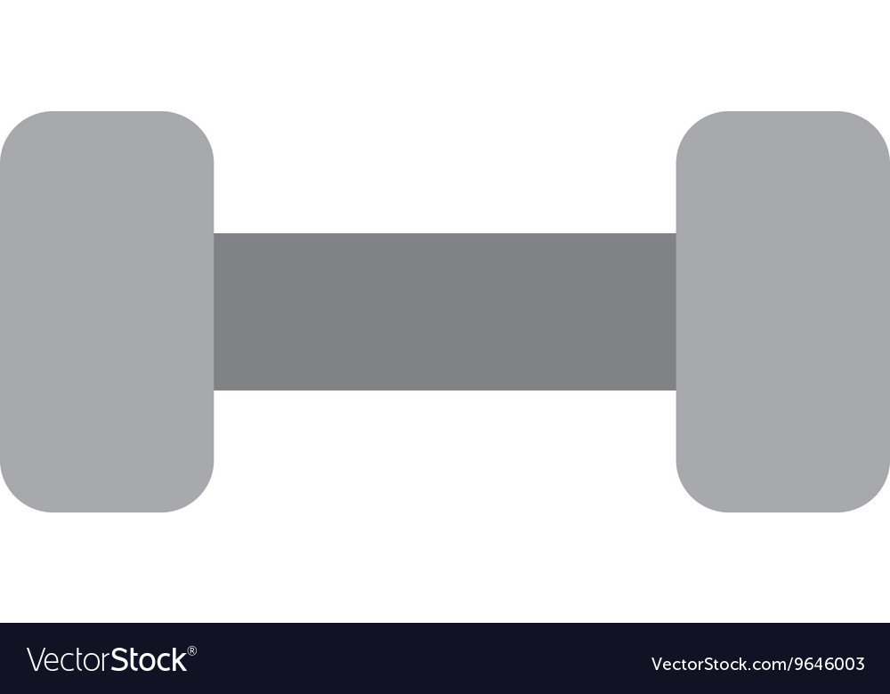 Dumbbell isolated icon design