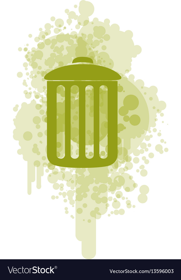 Green recycle basket icon