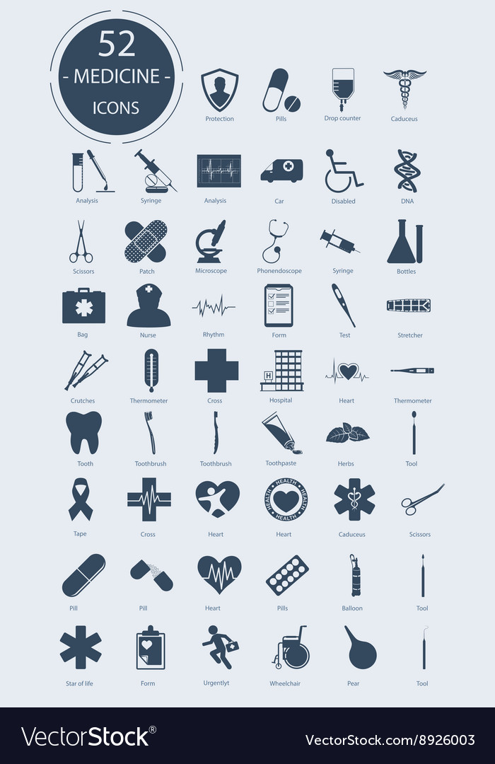 Medical icons elements